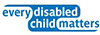 every disabled child matters charity logo
